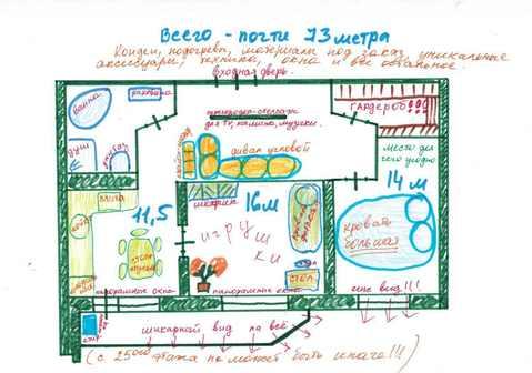 Дизайнерская двушка в пяти минутах от метро Новокосино