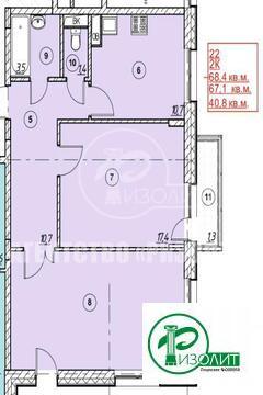 """Предлагаем купить двухкомнатную квартиру в строящемся доме в ЖК """"Андер"""