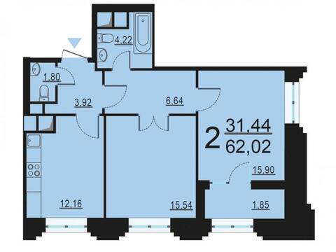 Москва, 2-х комнатная квартира, ул. Берзарина д.28, 12302721 руб.