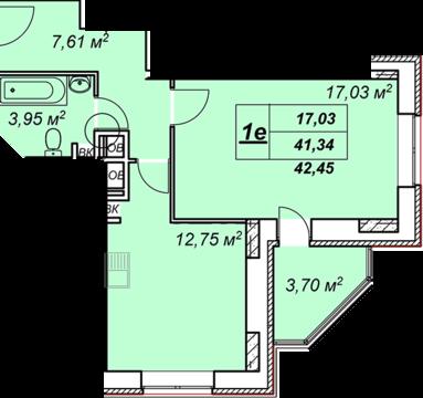 Солнечногорск, 1-но комнатная квартира, ул. Обуховская д.50, 2377200 руб.