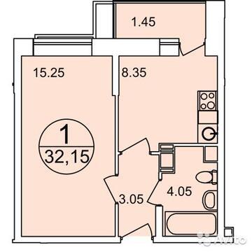 Продаётся 1-комнатная квартира по адресу Вертолетная корпус 11