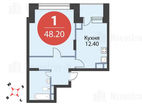 Павловская Слобода, 1-но комнатная квартира, ул. Красная д.д. 9, корп. 56, 4350050 руб.