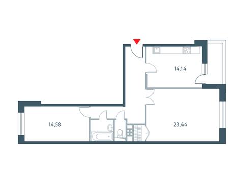"""2-комнатная квартира, в ЖК """"Прайм Тайм"""""""