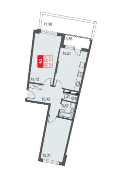 Москва, 2-х комнатная квартира, ул. Живописная д.12, 4528146 руб.