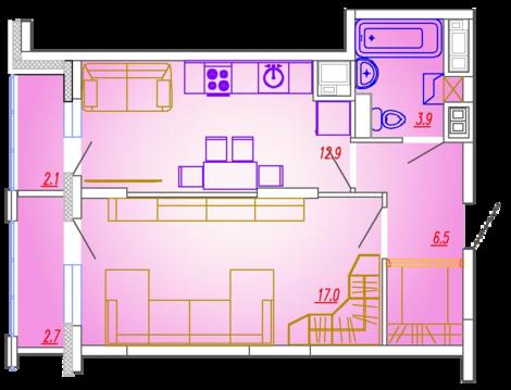 Мытищи, 1-но комнатная квартира, Ярославское ш. д.73, 3612000 руб.