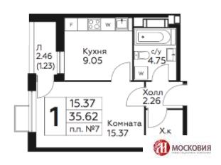 Москва, 1-но комнатная квартира, Сосенки д.1, 3100000 руб.