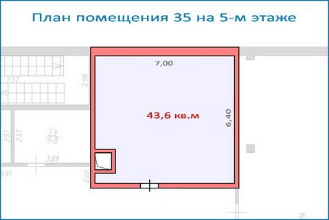 Помещение свободного назначения 43,6 кв.м в новом ТЦ, 6 км от МКАД