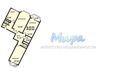 Продается 3-х комнатная квартира г.Лыткарино, ул.Набережная, д.11, 8/