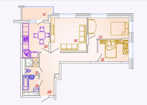 Мытищи, 3-х комнатная квартира, Ярославское ш. д.73, 5387200 руб.