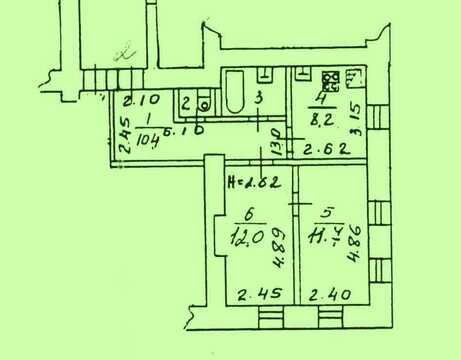 2-к квартира в исторической части Коломны - ул. Яна Грунта 4