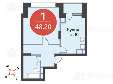 Павловская Слобода, 1-но комнатная квартира, ул. Красная д.д. 9, корп. 56, 4530800 руб.