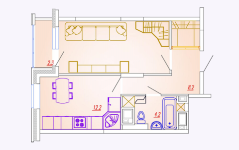 Мытищи, 2-х комнатная квартира, Ярославское ш. д.73, 3604000 руб.