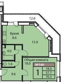 Дмитров, 2-х комнатная квартира, ул. Оборонная д.30, 3600000 руб.