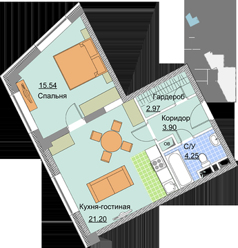 2-комнатная квартира Мытищи Шараповский пр-д д.2
