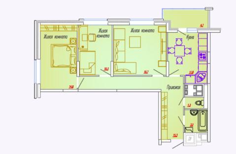 Мытищи, 3-х комнатная квартира, Ярославское ш. д.73, 5616600 руб.