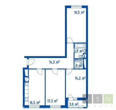 """3-комнатная квартира, 86 кв.м., в ЖК """"Летний сад"""""""