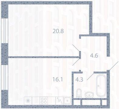 Москва, 1-но комнатная квартира, ул. Новоалексеевская д.2к1, 10433920 руб.
