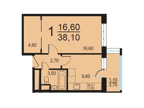 Москва, 1-но комнатная квартира, Внутренний проезд д.8с2, 7811643 руб.