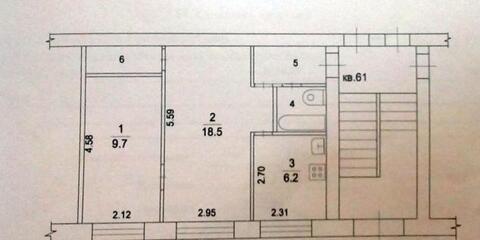 2 комнатная квартира 42.7 кв.м. в г.Жуковский, ул.Чаплыгина д.34
