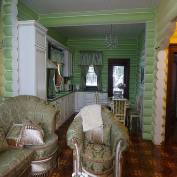 Дом из оцилиндрованного бревна 183 кв.м. с участком 15 соток.