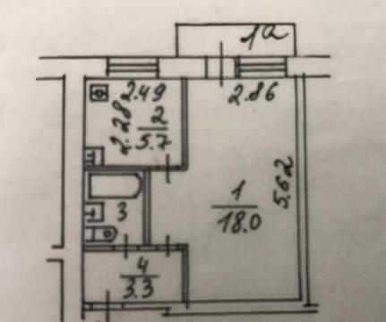 Продажа 1-комнатной квартиры на Рязанке