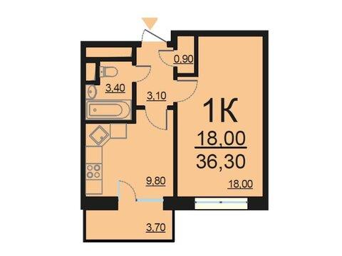 Москва, 1-но комнатная квартира, Внутренний проезд д.8с1, 7847479 руб.