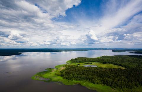 Продается земельный участок в черте г. Пушкино на берегу Учинского вод