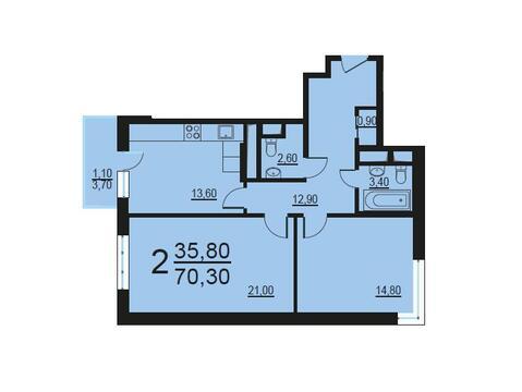 Москва, 2-х комнатная квартира, Внутренний проезд д.8с1, 14083551 руб.
