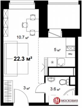 Химки, 1-но комнатная квартира, ул. Парковая д.2, 2440000 руб.