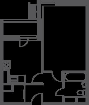 """1-комнатная квартира, 39 кв.м., в ЖК """"Софьин-дом. Лидер на Дмитровском"""""""