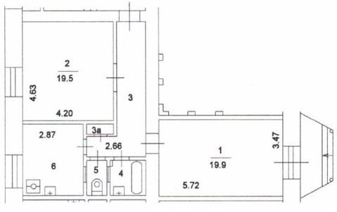 Торговое помещение 63.4м2