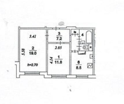 Продажа 2 комнатной квартиры м.Марьино (Луговой проезд)