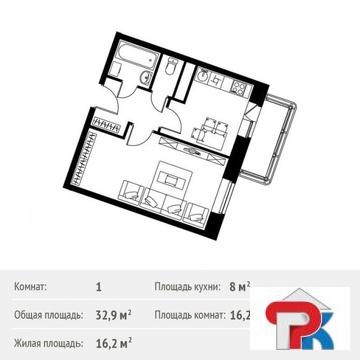 Красногорск, 1-но комнатная квартира, Пришвина д.5, 4500000 руб.