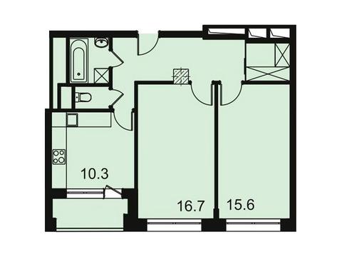 """Продается 2-к. квартира, 61,3 кв.м. в ЖК """"Парк Легенд"""""""