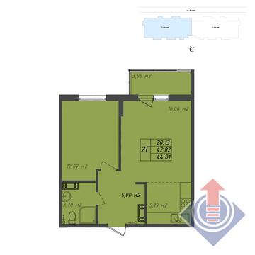 2-комнатная квартира, 45 кв.м.