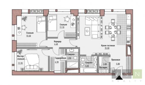 """4-комнатная квартира, 103 кв.м., в Элитный дом """"РЕНОМЭ"""""""