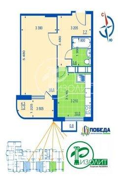 Предлагаем купить однокомнатную квартиру 45,27 кв.м.