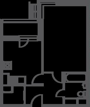 """1-комнатная квартира, 40 кв.м., в ЖК """"Софьин-дом. Лидер на Дмитровском"""""""