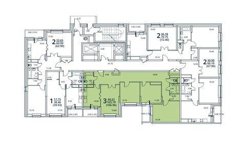 Москва, 3-х комнатная квартира, ул. Радиальная 6-я д.7, к 27, 9629608 руб.