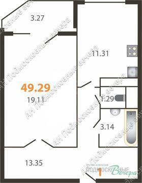 Щелково, 1-но комнатная квартира, микрорайон Щелково-3, улица Ленина д.10, 2464500 руб.