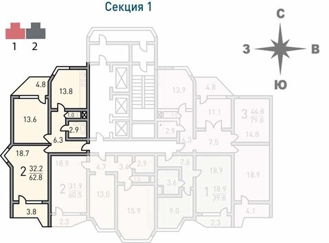 Москва, 2-х комнатная квартира, Недорубова д.11, 6400000 руб.