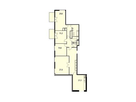"""Продается 4-к. квартира, 146,3 кв.м. в ЖК """"Клубный дом на Серпуховском ."""