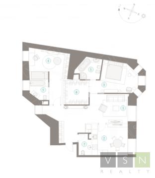 "3-комнатная квартира, 106 кв.м., в ЖК ""Полянка/44"""