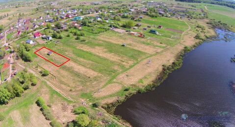 Оформленный участок 14 соток с строением у водоёма в деревне Курьяново