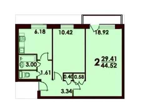 Срочно продаю 2 ком. квартиру в жилом состоянии на берегу Сходни