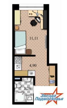 1 комнатная квартира-студия в Дмитрове, улица Спасская д.19.