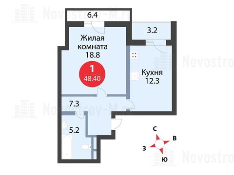Павловская Слобода, 1-но комнатная квартира, ул. Красная д.д. 9, корп. 56, 3800000 руб.