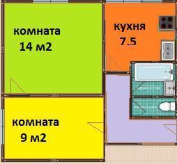 2х комнатая квартира Удальцова ул. 3к3