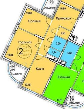 2-комнатная квартира, 77 кв.м., в ЖК «Золотые ворота»