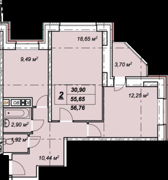 Солнечногорск, 2-х комнатная квартира, ул. Обуховская д.50, 3632640 руб.
